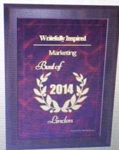 Writefully Inspired Chosen for Marketing Award