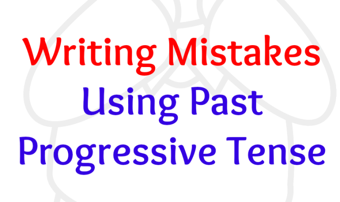 Avoiding Past Progressive Tense