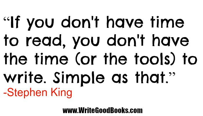 One of the best quotes about writing from the King himself.