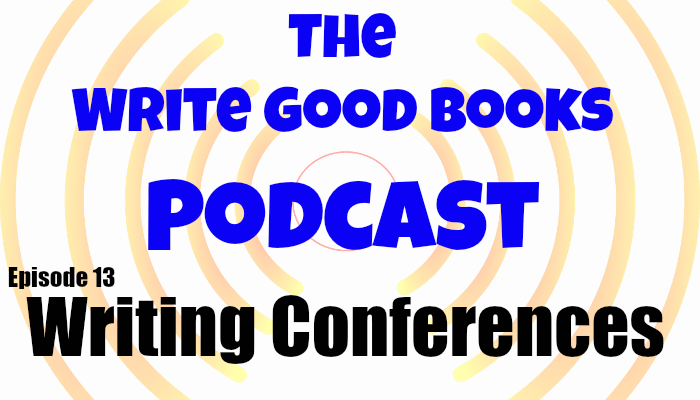 In this episode of The Write Good Books Podcast, Scott and Jason talk about how to prepare for your first writing conference, including what to expect and how to behave.