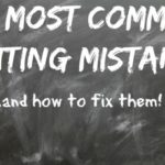 My most common mistakes and how to fix them