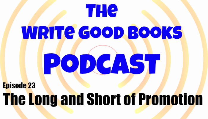In this episode of The Write Good Books Podcast, Jason and Scott take a look at promoting yourself as a writer with tips on pitching your novel and finding speaking engagements.