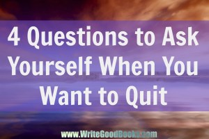 Trying to build a writing career is not easy. There are setbacks everywhere. Here are some tips on how to keep going when you feel like quitting.