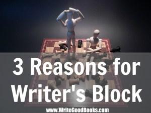 We can experience writer's block for a variety of reasons. Here are a few of my most common ones.