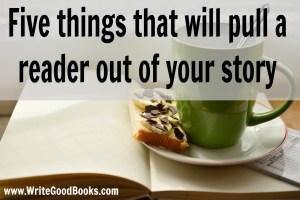 Every time you remind a reader that they're reading a story, you risk losing a reader before they finish.