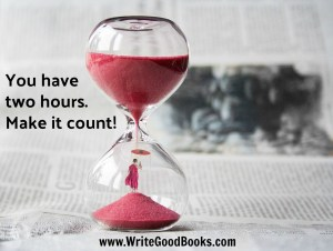 Here's another post about finding time to write. The secret? Schedule it in and set goals.