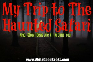 In this post I share a story about my family trip to the Haunted Safari, and a few of the writing ideas I gained from it.
