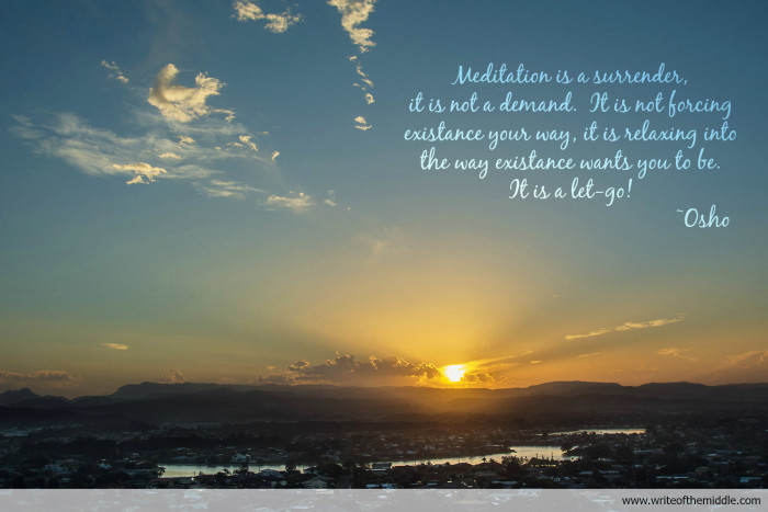 meditation, mindfulness, quote, osho, sunset