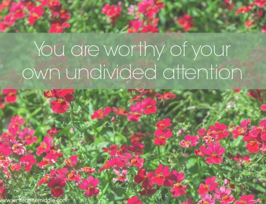worth, undivided attention, mindfulness
