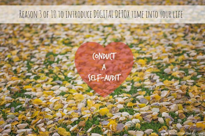 conduct a self audit, autumn leaves, digital detox
