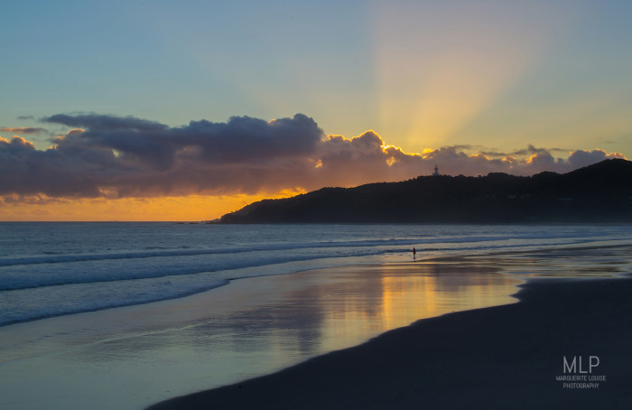 sunrise, beach, byron bay, australia