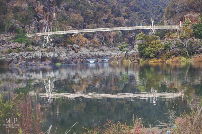 suspension bridge, cataract gorge, launceston, tasmania