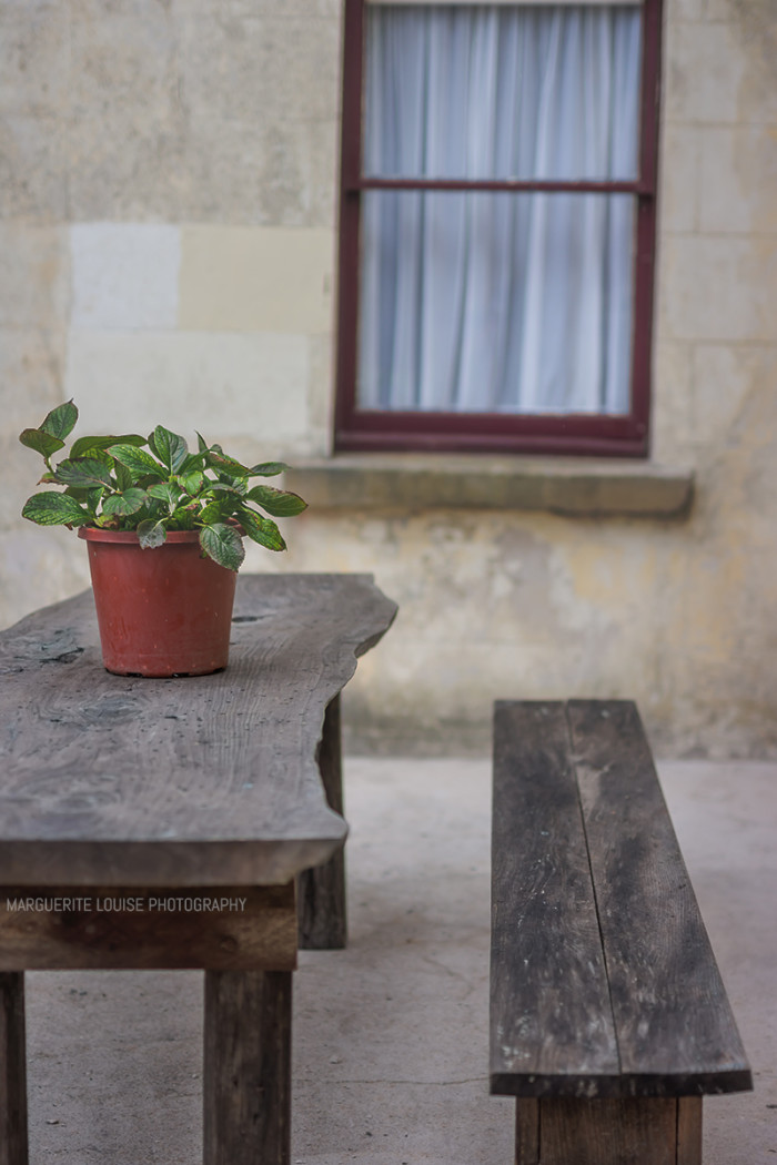 courtyard, table, wood, timber, seats, highfield house, stanley, tasmania