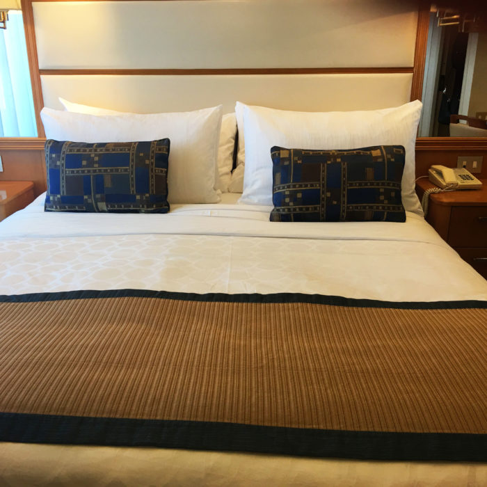 cabin, stateroom, sun princess, bed, cruise ship
