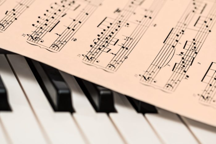 music, piano, sheet music