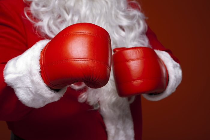 boxing day, boxing, boxing gloves, santa, christmas