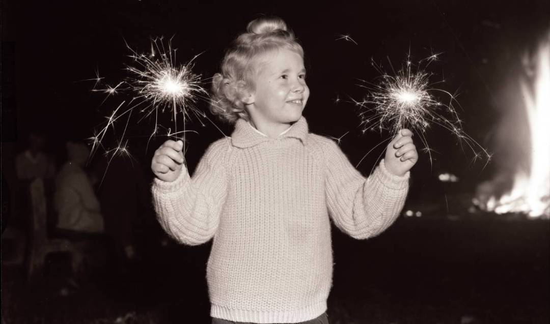 cracker night, crackernight, fireworks, child, 1963