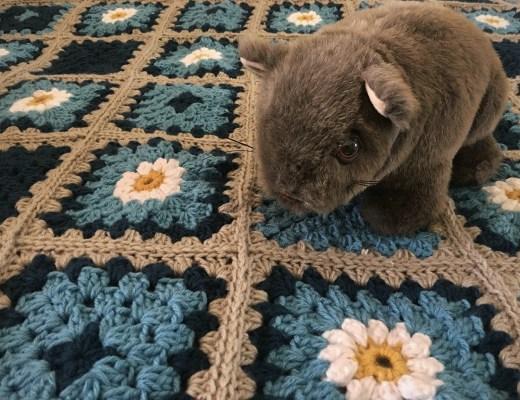wombat, crochet, crochet blanket, granny squares