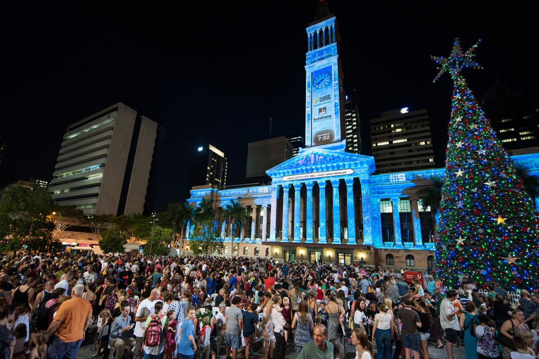 Brisbane, King George Square, City Hall, Christmas, Christmas Tree
