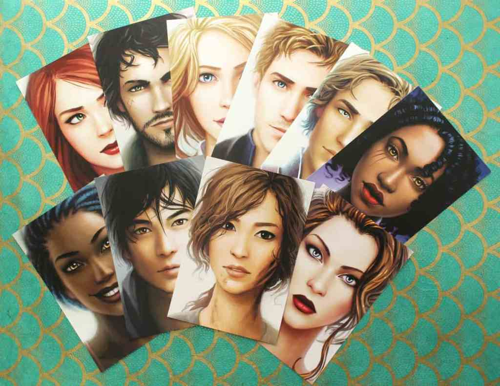 Set of 10 Lunar Chronicles Portrait Postcards