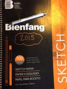 sketchbook and pen