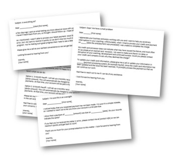 Payment Letter Templates