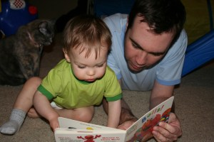 """This book, too, has a voice. It's called """"dad."""""""