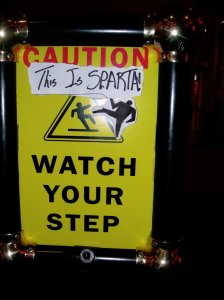 This is Sparta. Watch your step.