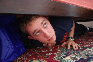 Have you ever wanted to hide under the bed when confronted with big, scary things?