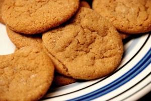 Molasses cookies are wonderful.