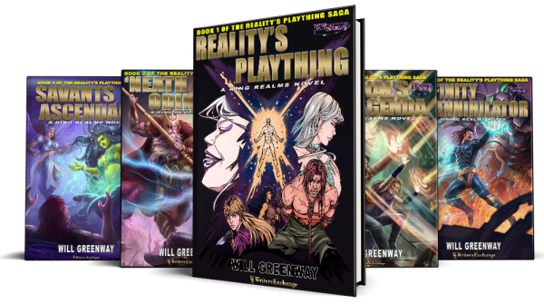 A Ring Realms Novel: Reality's Plaything Saga 5 cover spread