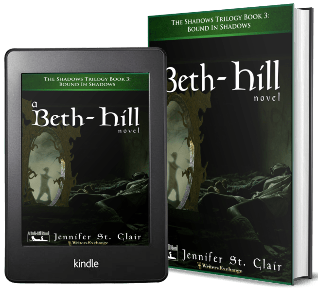 A Beth-Hill Novel: The Shadows Trilogy, Book 3: Bound in Shadows 2 covers