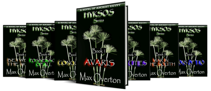 Hyksos Series, A Novel of Ancient Egypt by Max Overton cover spread
