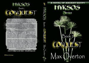 Hyksos Series, Book 2: Conquest, A Novel of Ancient Egypt by Max Overton print cover