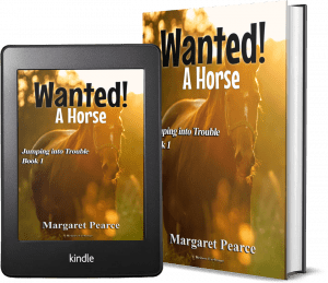 Jumping Into Trouble Series Book 1: Wanted! A Horse 2 covers