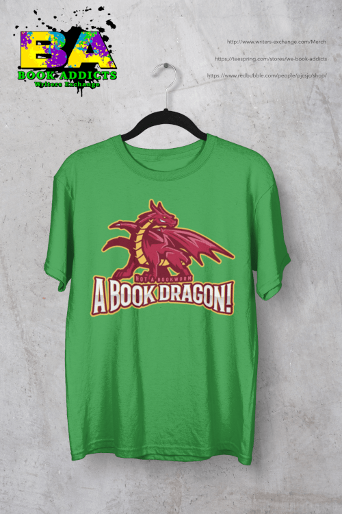 a book dragon design on tshirt