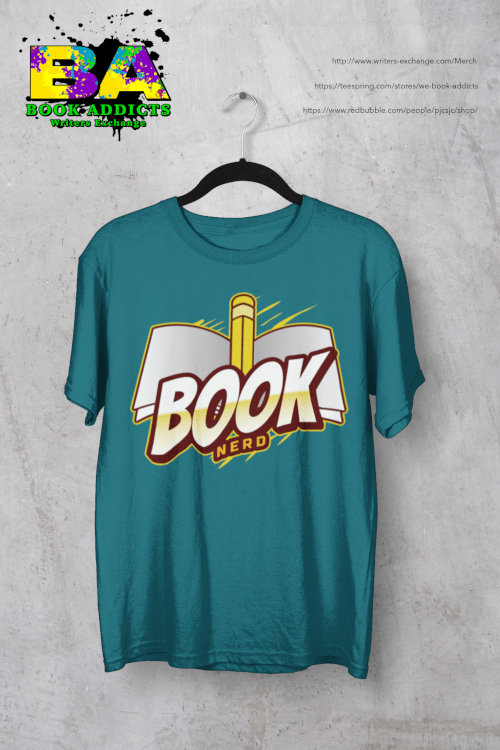 Book nerd design on tshirt