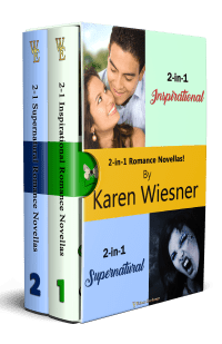 2-in-1 Romance Novellas boxed set with series cover and no ereader