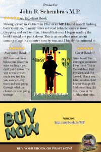 Book Review Quote for A Vince Torelli Novel: MP - A Novel of Vietnam by John Schembra
