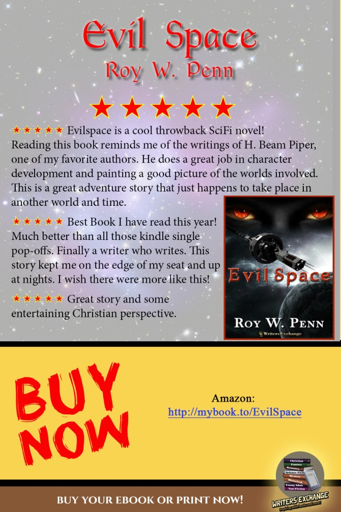 EvilSpace by Roy W. Penn Book Review vertical graphic