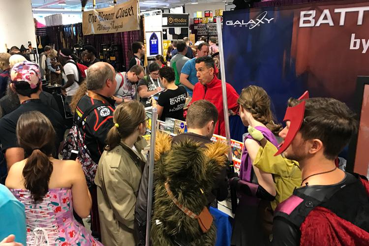 Galaxy booth at Dragon Con 2017