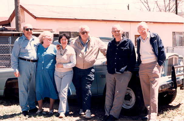 Gene and Rosemary Wolfe, Edna and Algis Budrys, Frederik Pohl and Jack Williamson