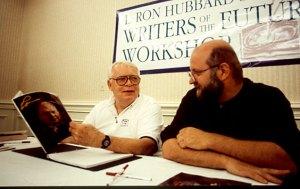 Workshop instructors Algis Budrys and Dave Wolverton