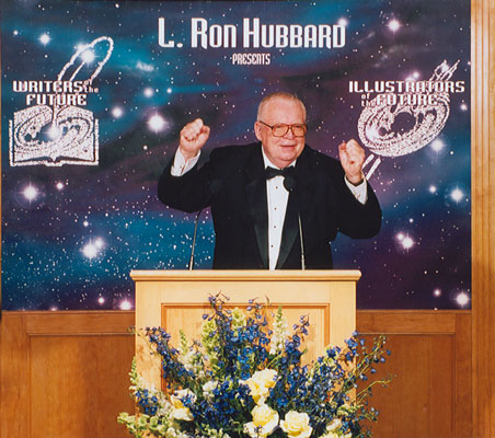 Algis launches the Awards ceremony, 2000