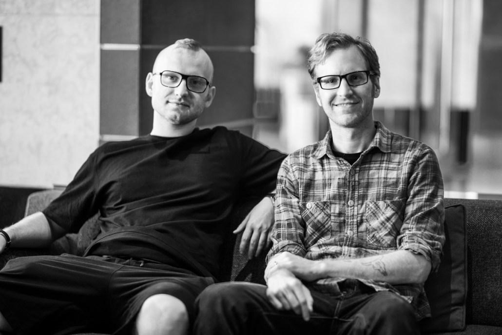 Michael with fellow artist David Furnal