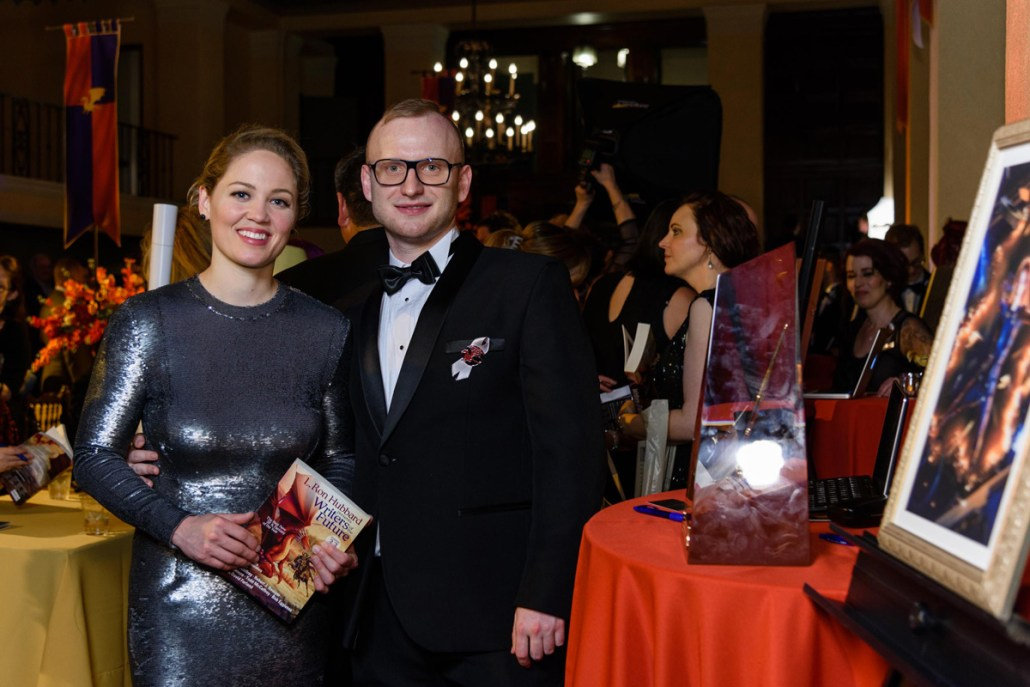 Actress Erika Christensen with Michael at the after-party