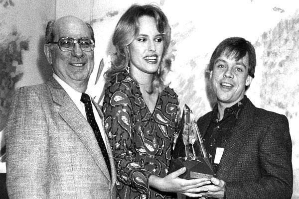 Julius Schwartz, actress Victoria King and Mark Hamill.