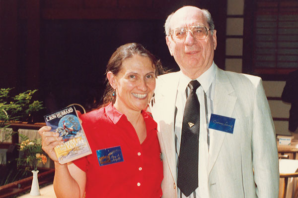 Mary Turzillo and Julius Schwartz, editor for DC Comics