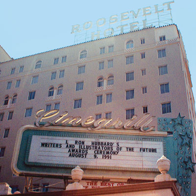 The Roosevelt Hotel, on Hollywood Boulevard, was the venue for the 1991 Writers and Illustrators of the Future ceremonies.