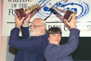 Gold Award winners James C. Glass (writer) and Sergey Poyarkov (illustrator).